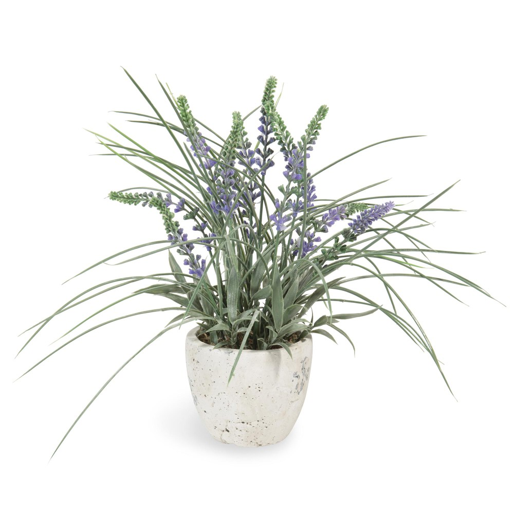 k nstlicher lavendel im topf h 31 cm maisons du monde. Black Bedroom Furniture Sets. Home Design Ideas