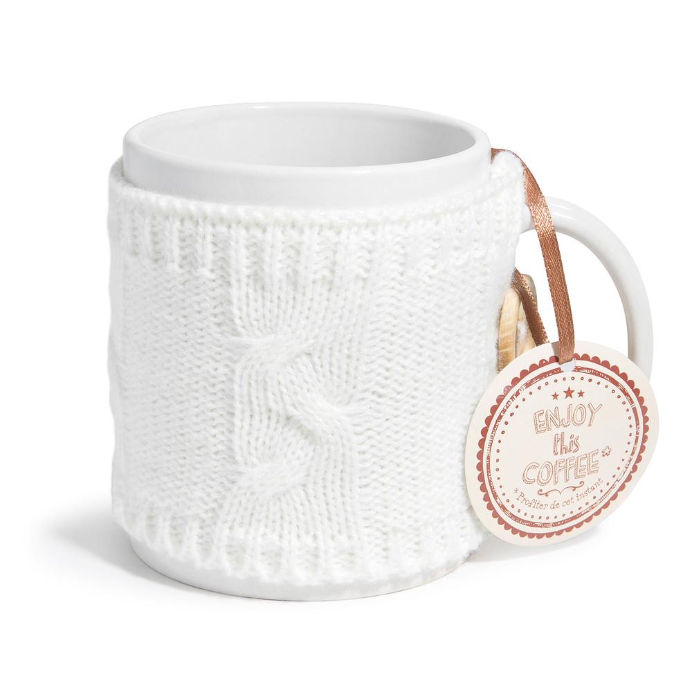 laine white earthenware mug maisons du monde. Black Bedroom Furniture Sets. Home Design Ideas