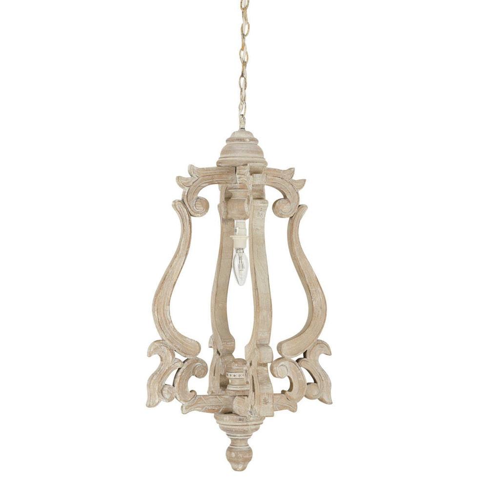 Lampada a sospensione in legno D 40 cm GARANCE  Maisons du Monde