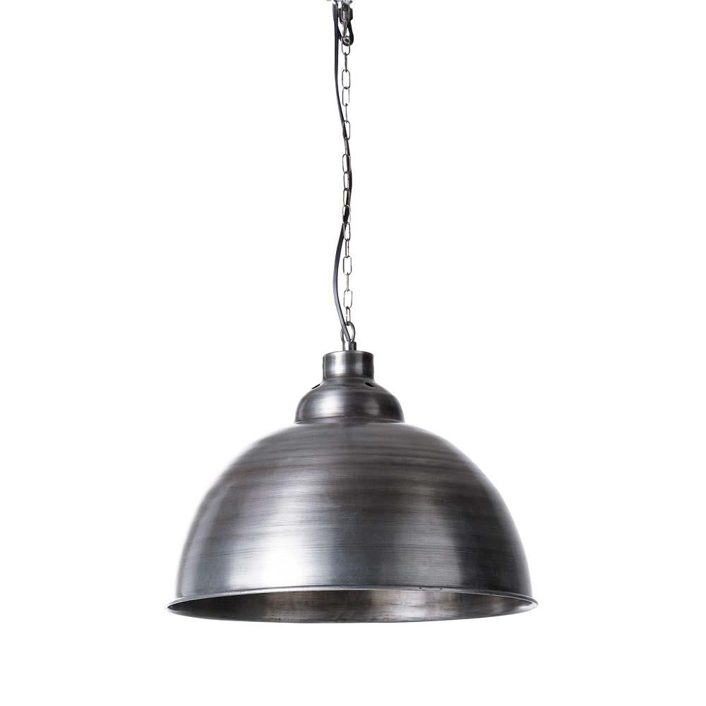 Lampada a sospensione in metallo spazzolato d 38 cm factory maisons du monde for Lampadari la maison du monde
