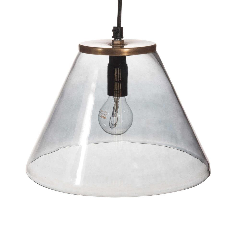 Lampada a sospensione in vetro colorato D 24 cm MARBELLA  Maisons du ...