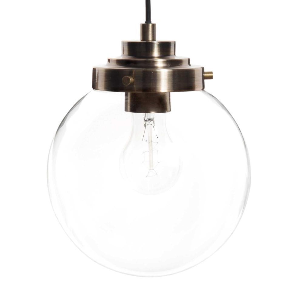 Lampada a sospensione in vetro d 20 cm globus maisons du monde - Mobiletti in vetro ...