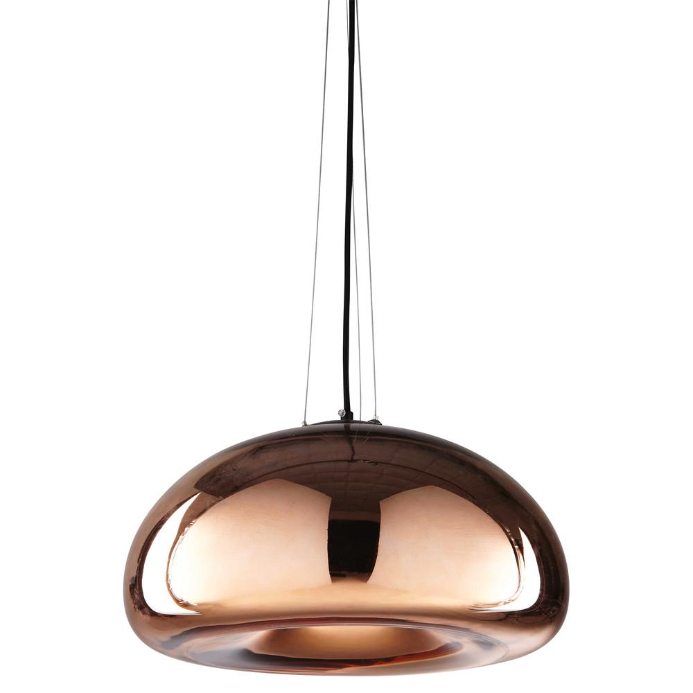 Lampada a sospensione in vetro ramato cherry for Lampada piantana maison du monde