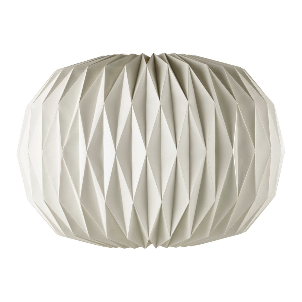 lampada a sospensione non elettrificata bianca in carta d 70 cm zen maisons du monde. Black Bedroom Furniture Sets. Home Design Ideas