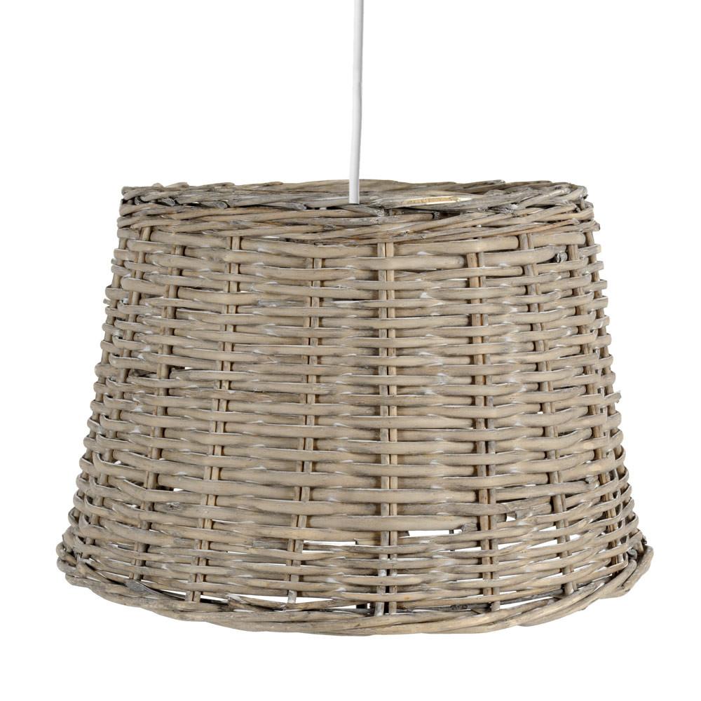 Lampada a sospensione non elettrificata grigia in rattan d for La maison du lustre
