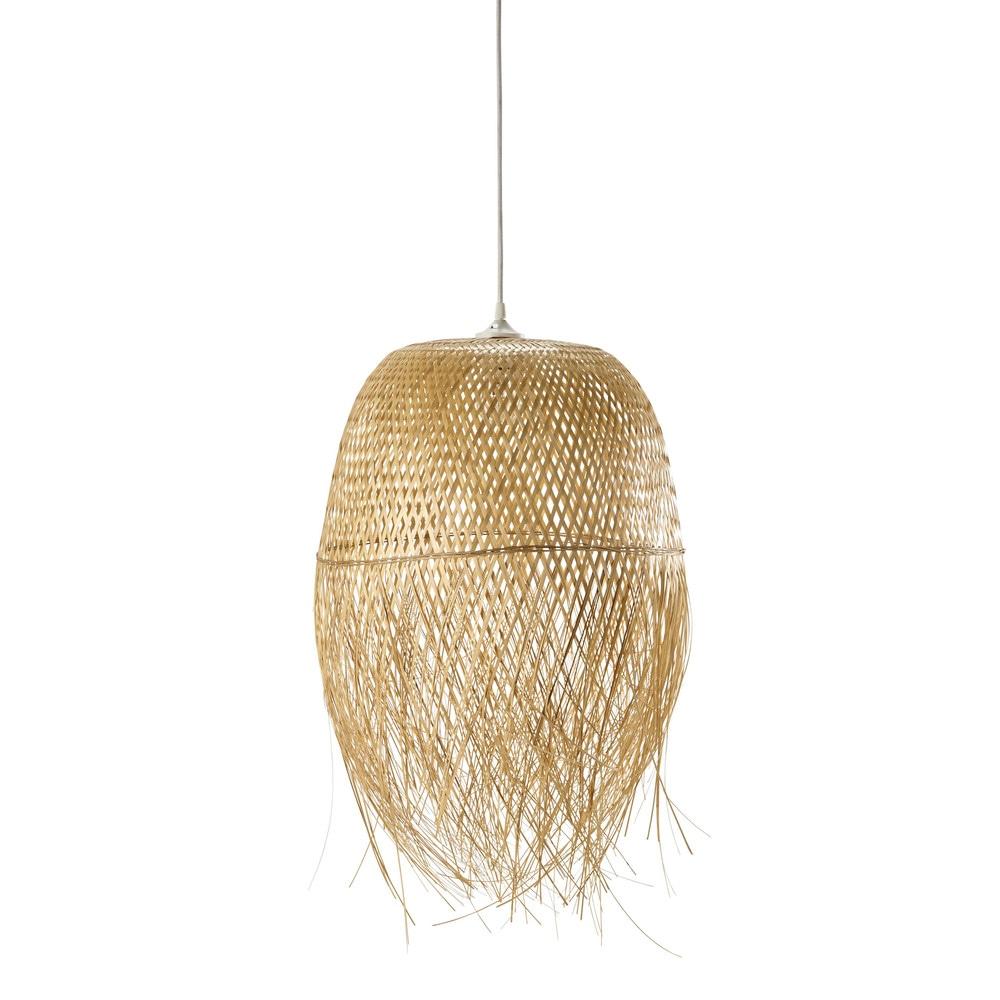 lampada a sospensione non elettrificata intrecciata d 42 cm panama maisons du monde. Black Bedroom Furniture Sets. Home Design Ideas