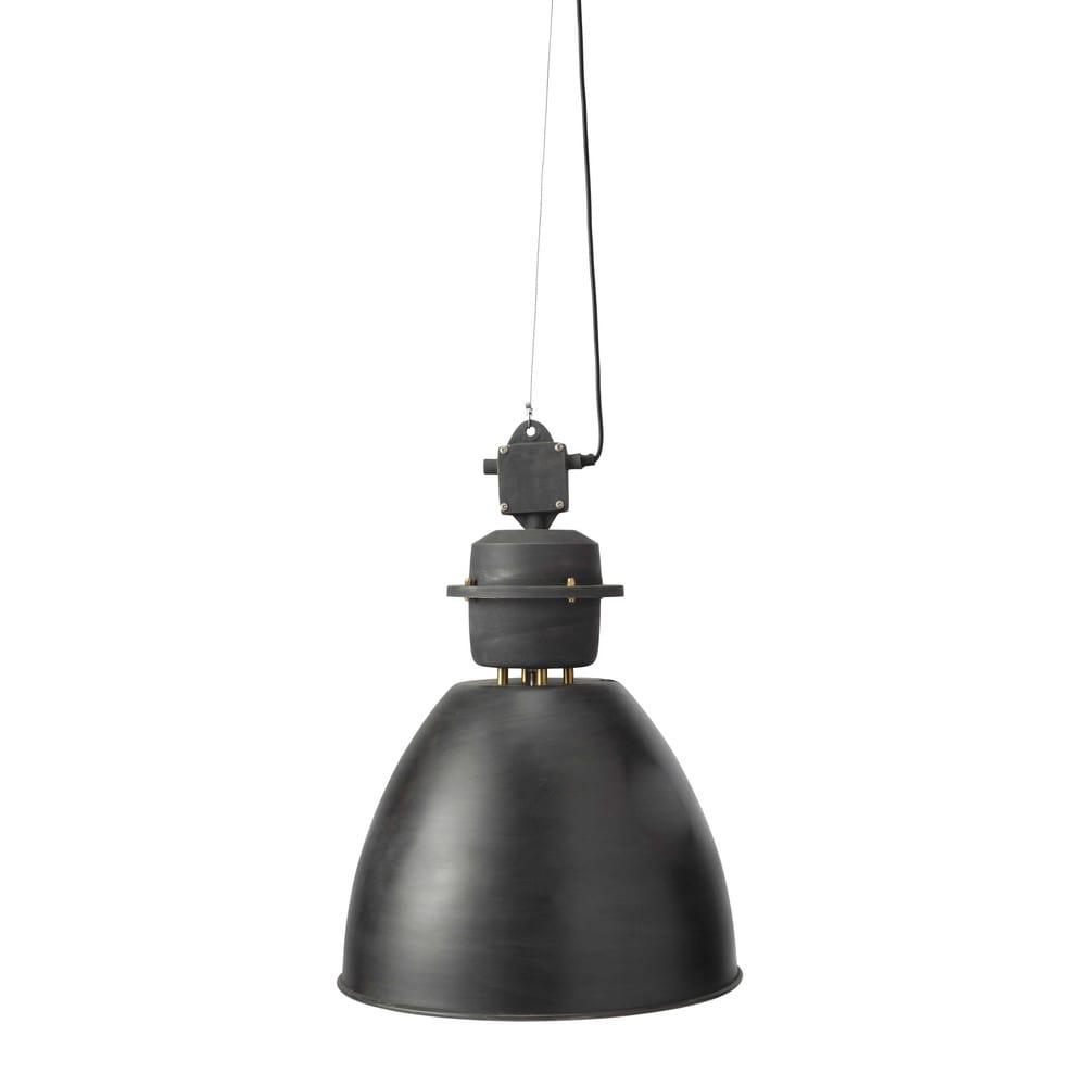 Lampada sospesa in metallo grigio antracite L 46 cm ...