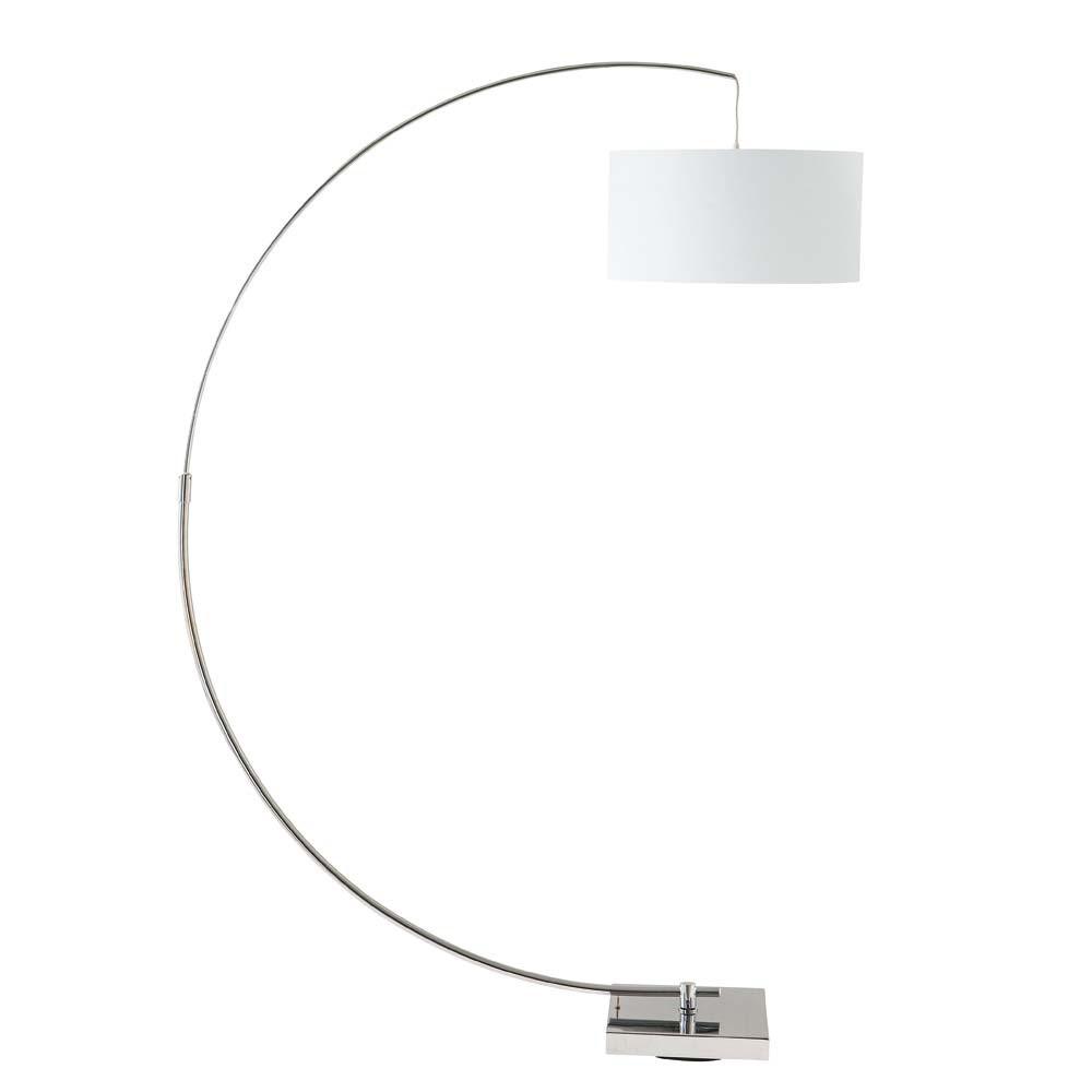 lampadaire en aluminium et coton blanc h 188 cm urban. Black Bedroom Furniture Sets. Home Design Ideas