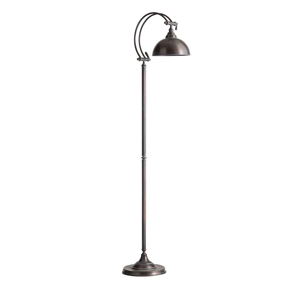 Lampadaire en m tal effet rouille h 150 cm lub ron - Peindre du metal rouille ...