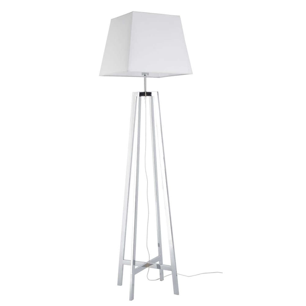 lampadaire en m tal et coton blanc h 171 cm newport maisons du monde. Black Bedroom Furniture Sets. Home Design Ideas