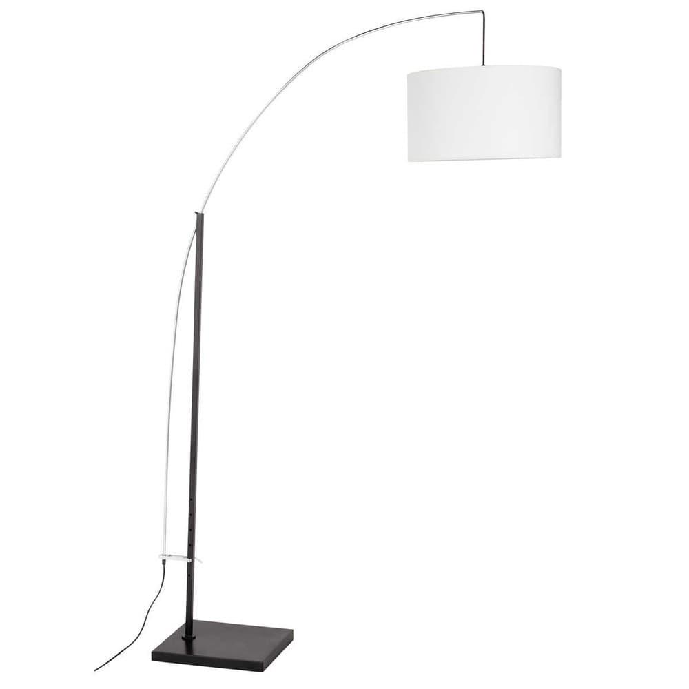 lampadaire en m tal et coton blanc h 202 cm torino. Black Bedroom Furniture Sets. Home Design Ideas