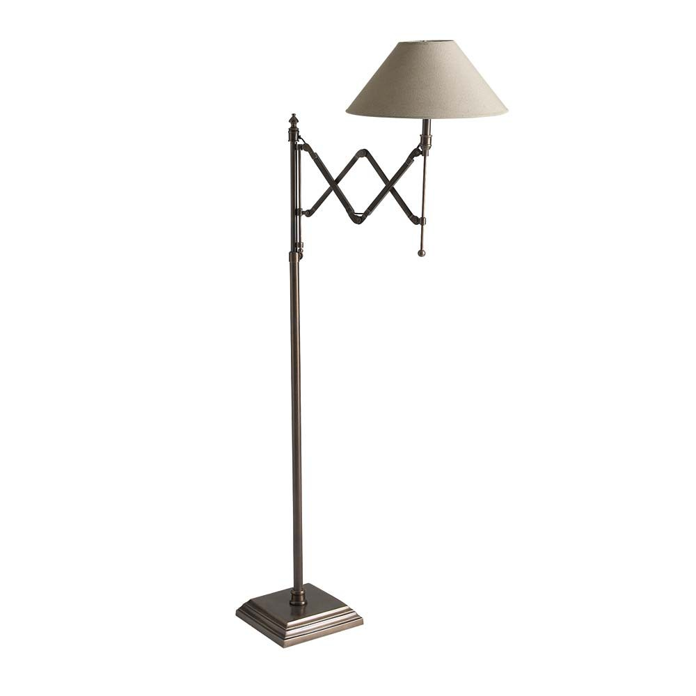 lampadaire en m tal et coton taupe h 148 cm cologne maisons du monde. Black Bedroom Furniture Sets. Home Design Ideas