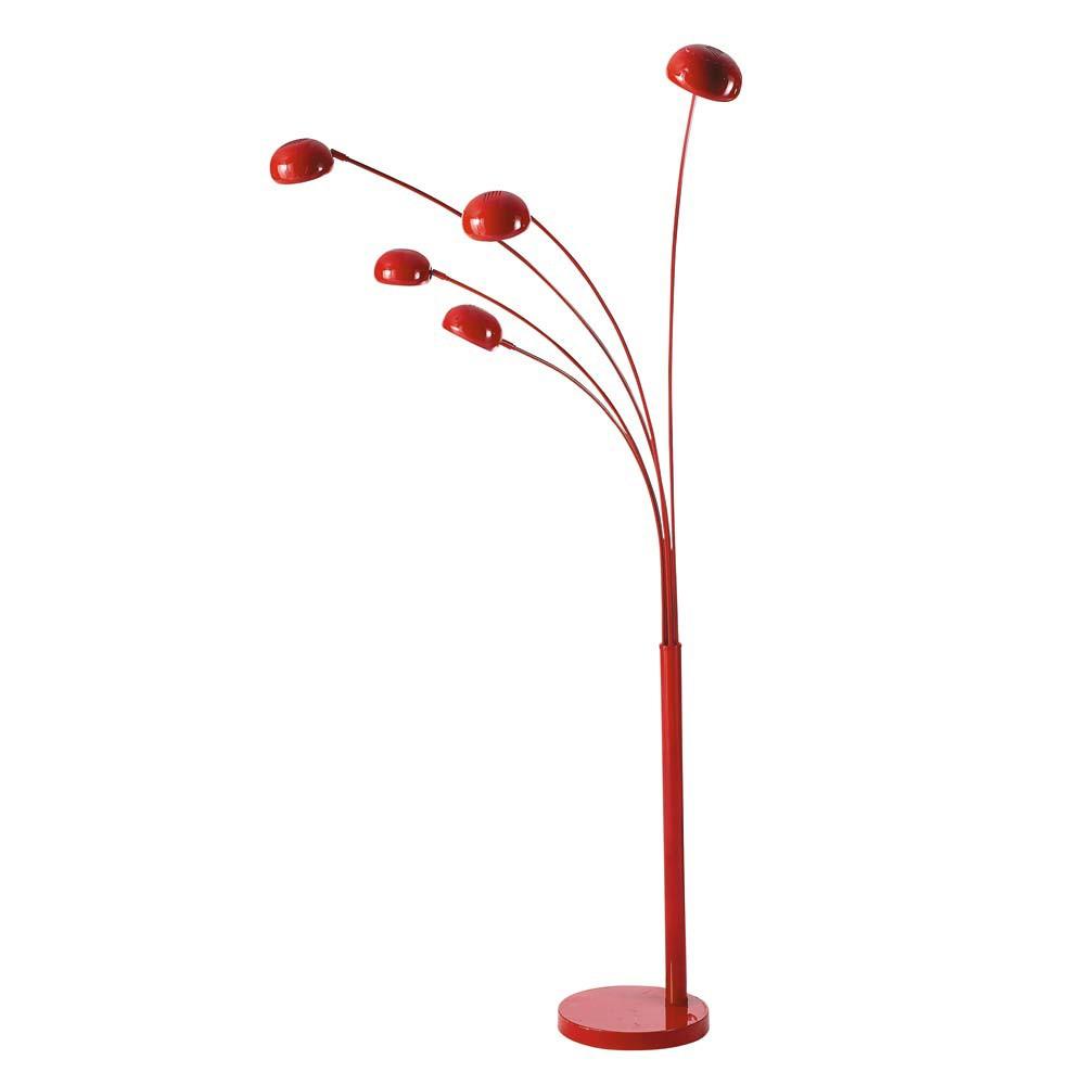 lampadaire en m tal rouge h 198 cm octopus maisons du monde. Black Bedroom Furniture Sets. Home Design Ideas