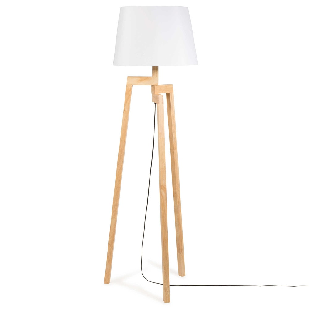 lampadaire tr pied en bois h 150 cm vesuvio maisons du monde. Black Bedroom Furniture Sets. Home Design Ideas