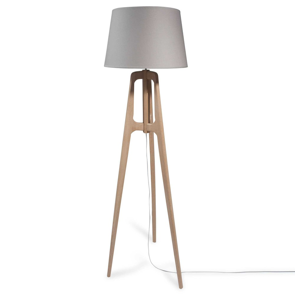 lampadaire tr pied en bois h 160 cm molly maisons du monde. Black Bedroom Furniture Sets. Home Design Ideas