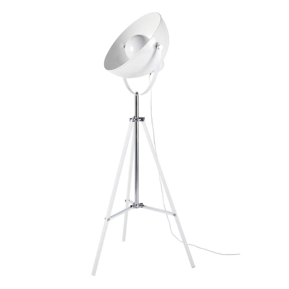 Lampadaire tr pied en m tal blanc h 170 cm photographe maisons du monde Lampadaire trepied blanc