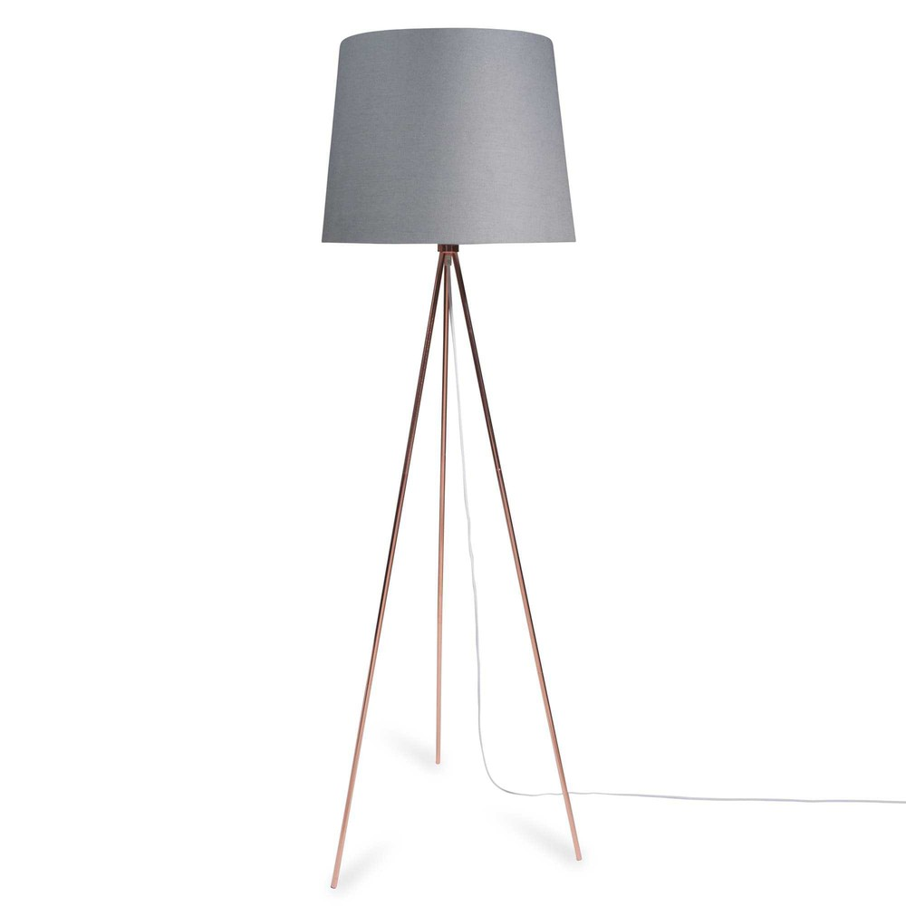 lampadaire tr pied en m tal h 148 cm whity copper maisons du monde. Black Bedroom Furniture Sets. Home Design Ideas