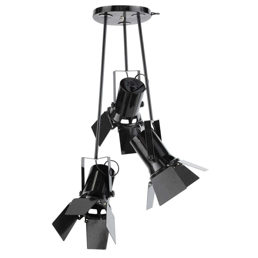 lampadario nero : Lampadario nero 3 faretti in metallo D 40 cm MAKING OF Maisons du ...