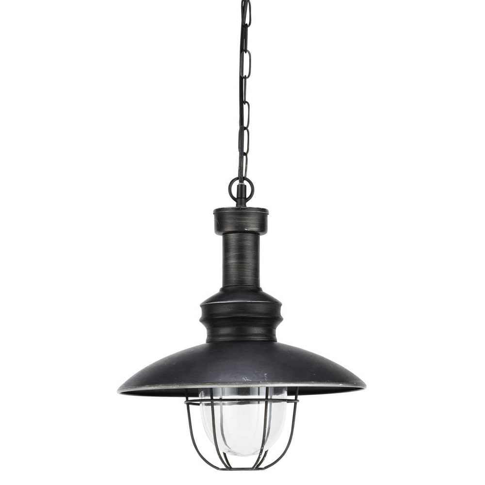 lampadario nero : Lampadario nero in metallo e vetro D 31 cm AMARAGE Maisons du Monde