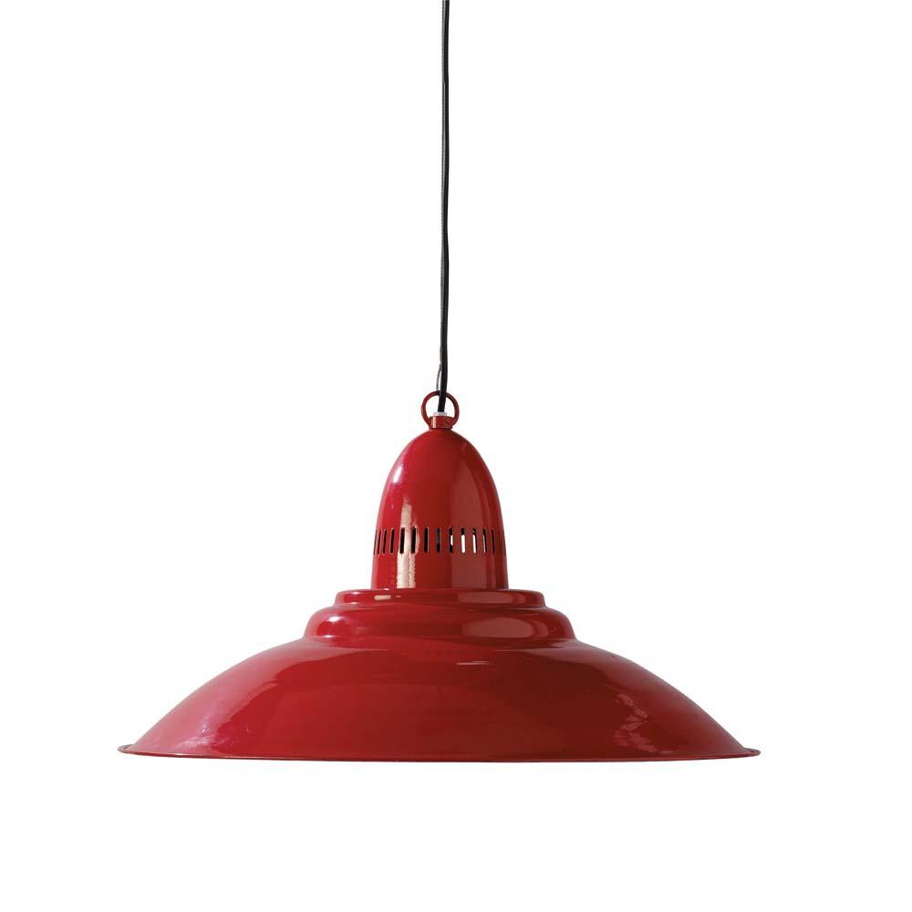 lampadario rosso in metallo D 50 cm COMPTOIR  Maisons du Monde