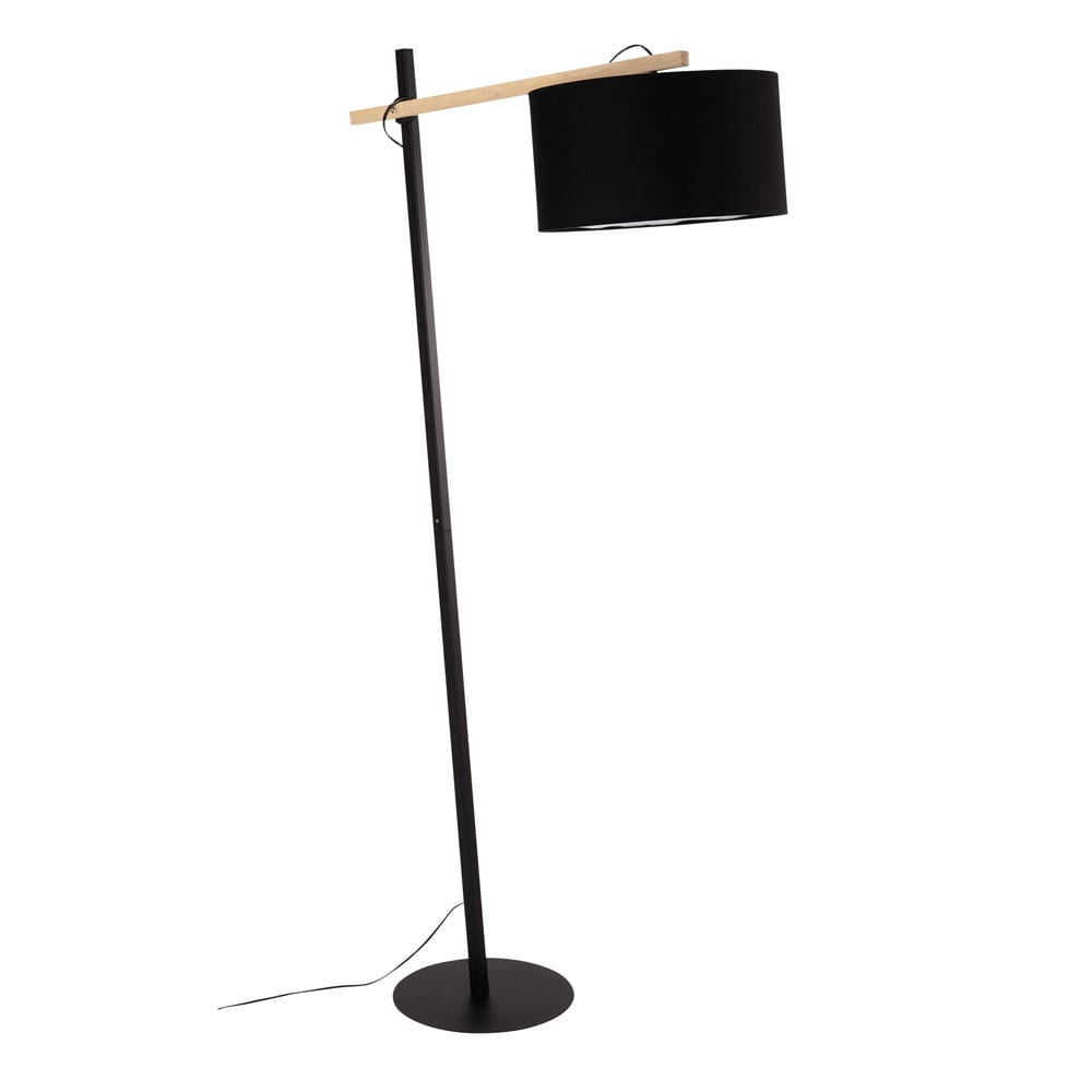 L mpara de pie de metal y pantalla negra al 170 cm klara - Lamparas de pie maison du monde ...