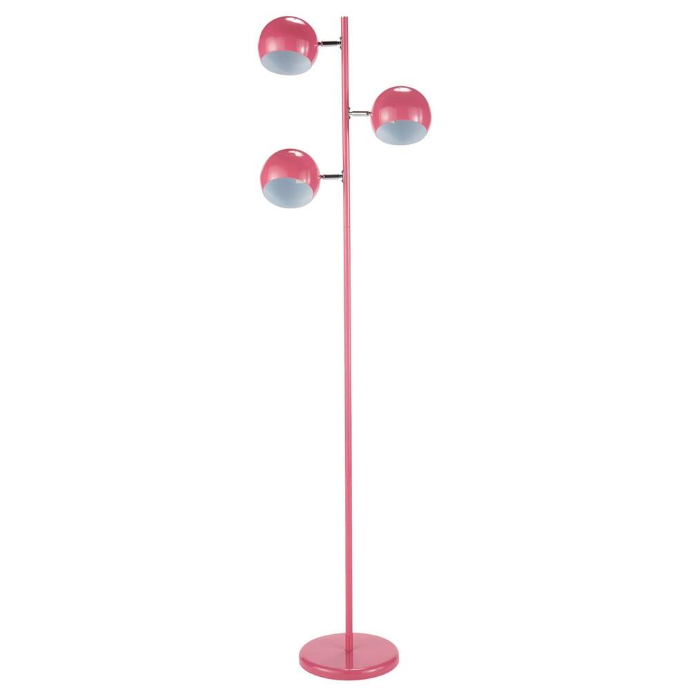 L mpara de pie triple de metal rosa bristol maisons du monde - Lamparas de pie maison du monde ...