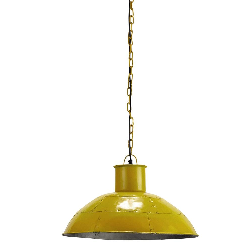 L mpara de techo amarilla de metal 45 cm seaside - Maison du monde lamparas de mesa ...