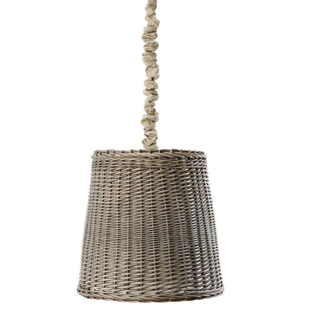L mpara de techo de rat n ninon maisons du monde for Maison du monde lamparas de mesa
