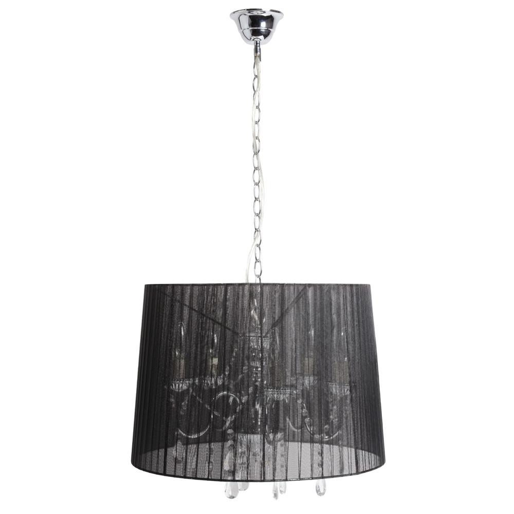 L mpara de techo de tela negra di m 50 cm organza for Lamparas de mesa maison du monde