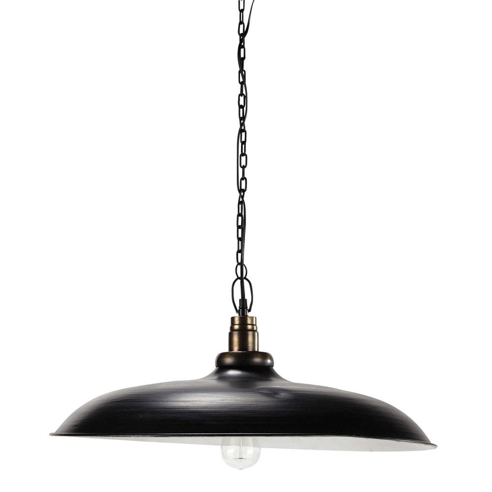 L mpara de techo negra de metal 61 cm lagrange maisons - Maison du monde lamparas de mesa ...