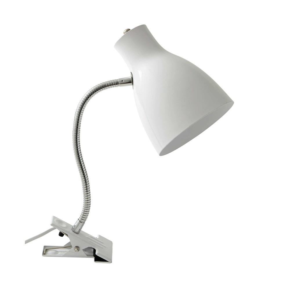 lampe pince en m tal blanc h 35 cm clipa maisons du monde. Black Bedroom Furniture Sets. Home Design Ideas