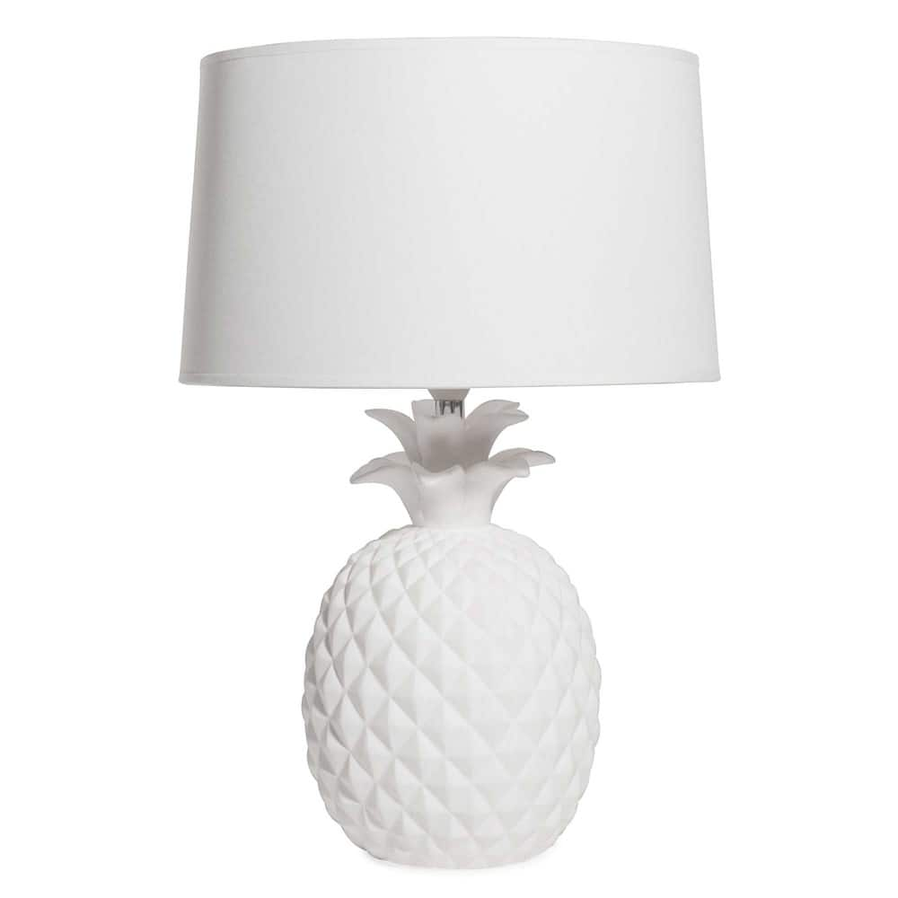 lampe ananas en c ramique blanche victoria maisons du monde. Black Bedroom Furniture Sets. Home Design Ideas