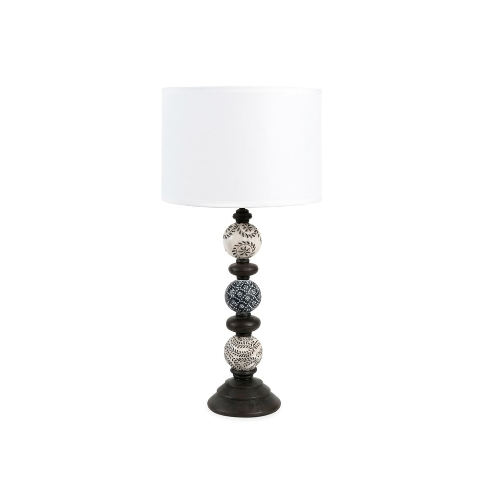 lampe anomakanie mit lampenschirm aus stoff h 52 cm maisons du monde. Black Bedroom Furniture Sets. Home Design Ideas