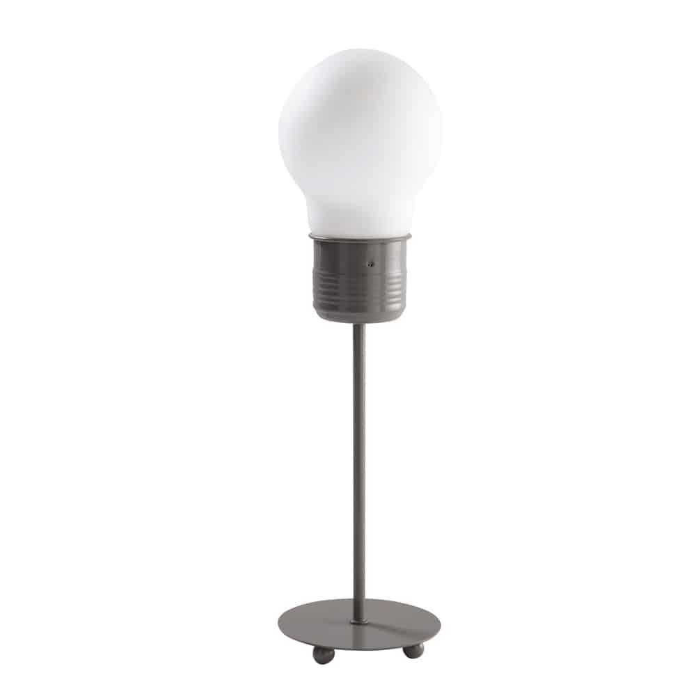 Lampe bulb grise tonique maisons du monde for Maison du monde lampe