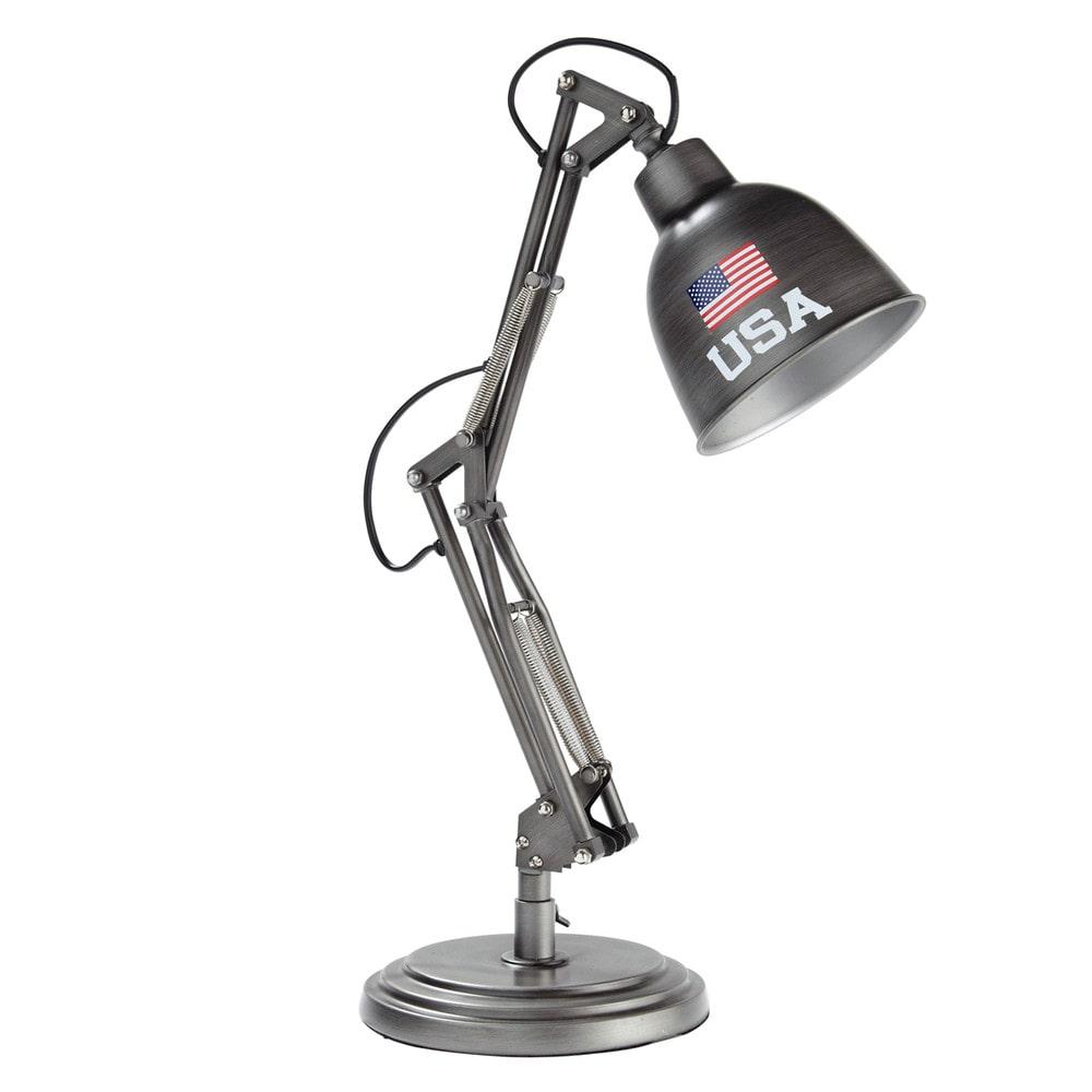 Lampe de bureau en m tal h 46 cm paterson andrews for Lampe de bureau maison du monde