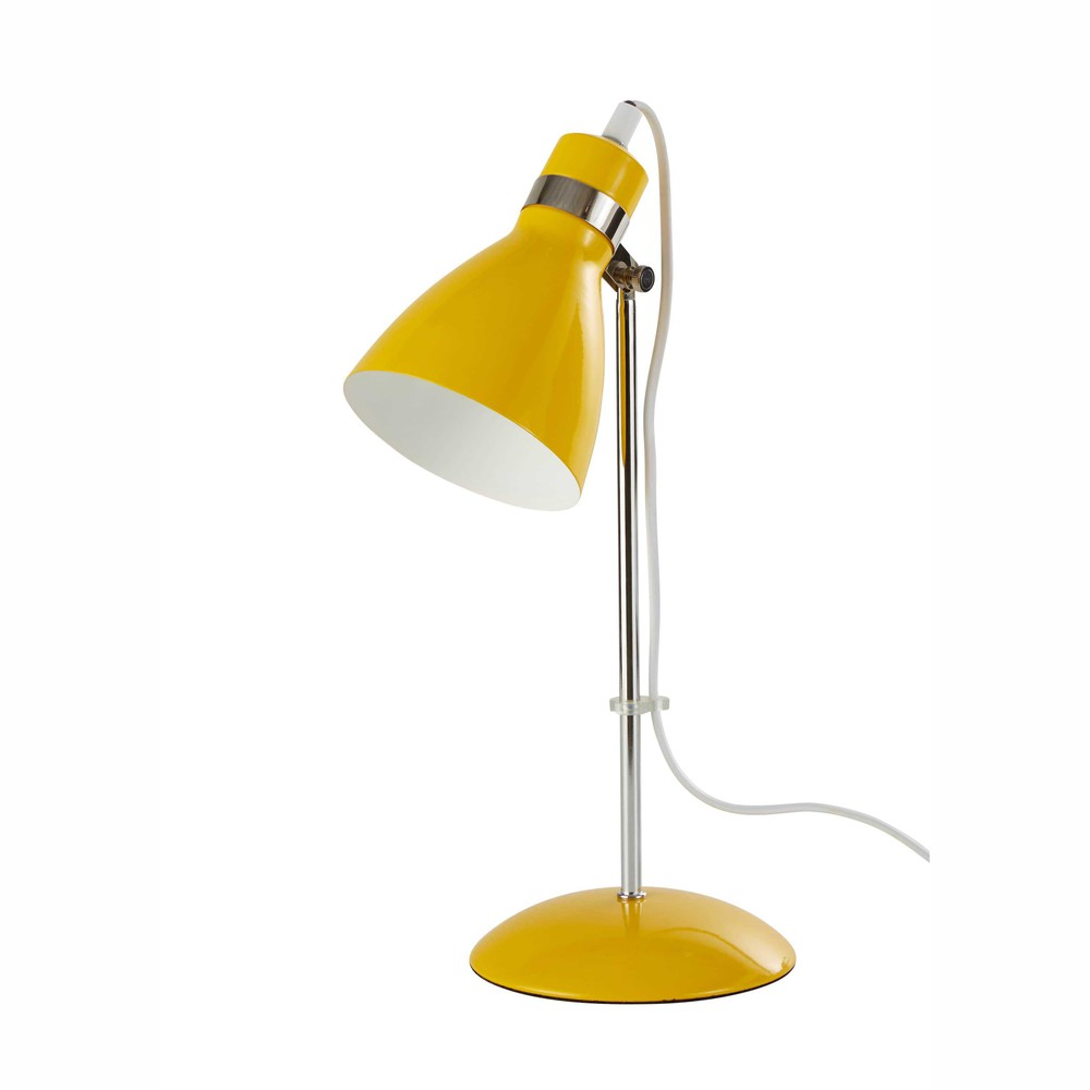 lampe de bureau en m tal jaune h 38 cm pix maisons du monde. Black Bedroom Furniture Sets. Home Design Ideas