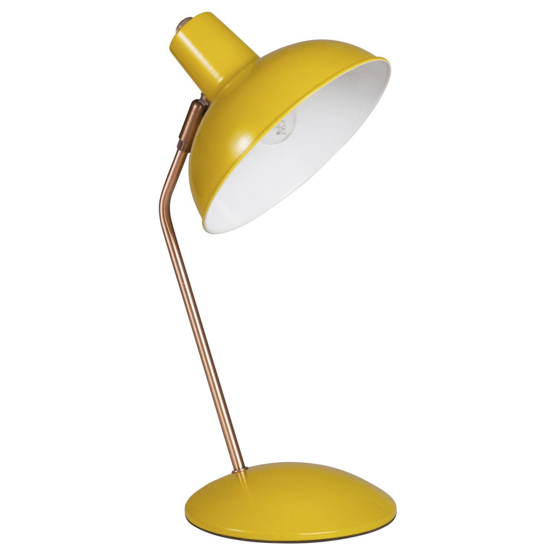 Lampe De Bureau En Metal Jaune Moutarde Imany Maisons Du Monde