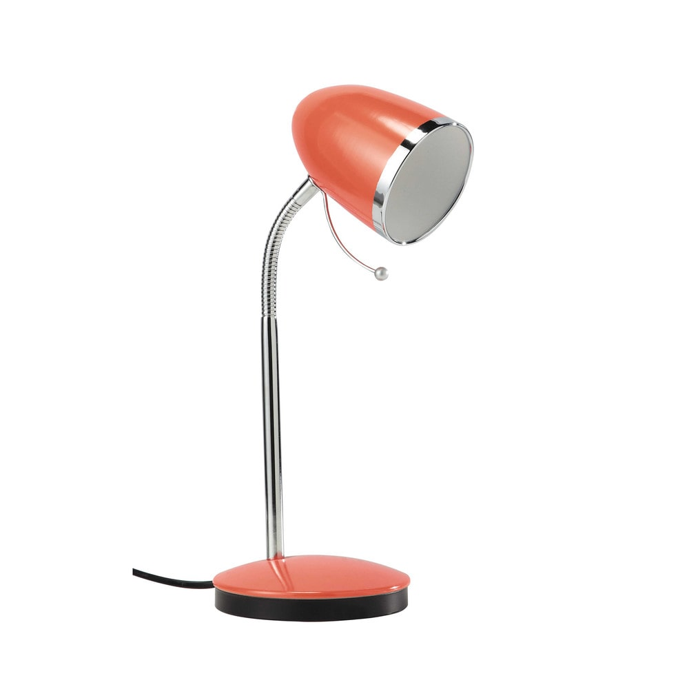 Lampe de bureau flexible en m tal corail h 35 cm swing for Lampe de bureau fille