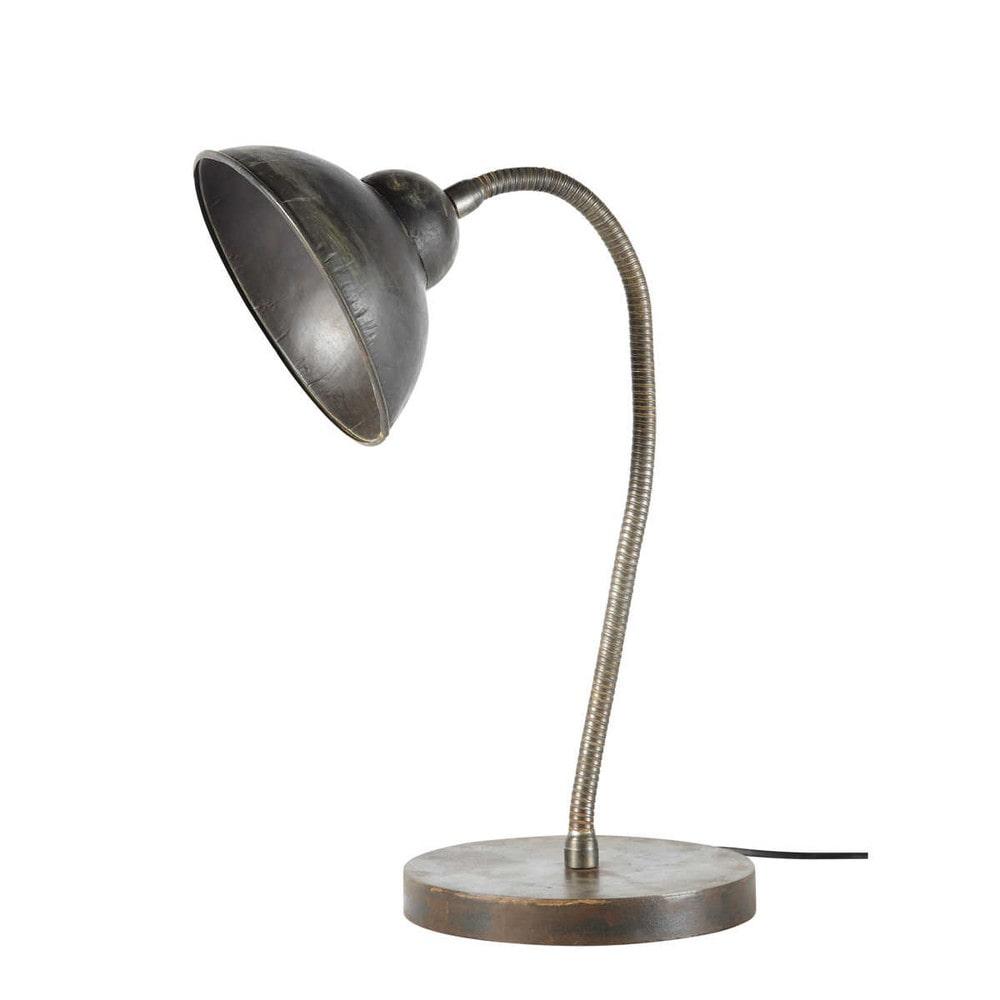 lampe de bureau indus orientable en m tal h 42 cm wayne maisons du monde. Black Bedroom Furniture Sets. Home Design Ideas
