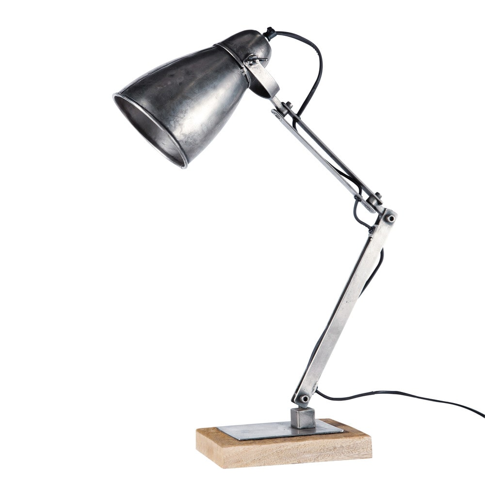 lampe de bureau indus orientable en m tal h 61 cm. Black Bedroom Furniture Sets. Home Design Ideas