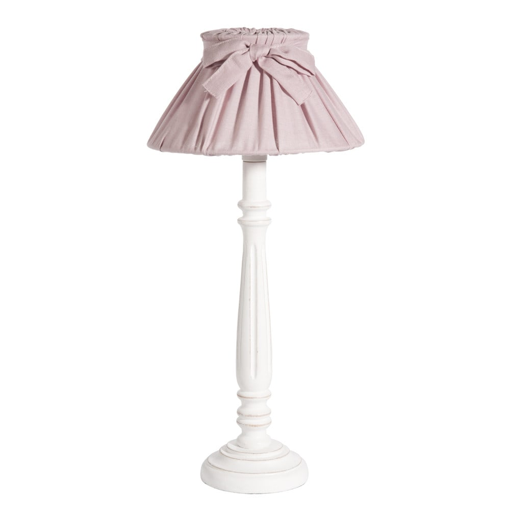 lampe de chevet abat jour en toile rose h 33 cm cleves maisons du monde. Black Bedroom Furniture Sets. Home Design Ideas