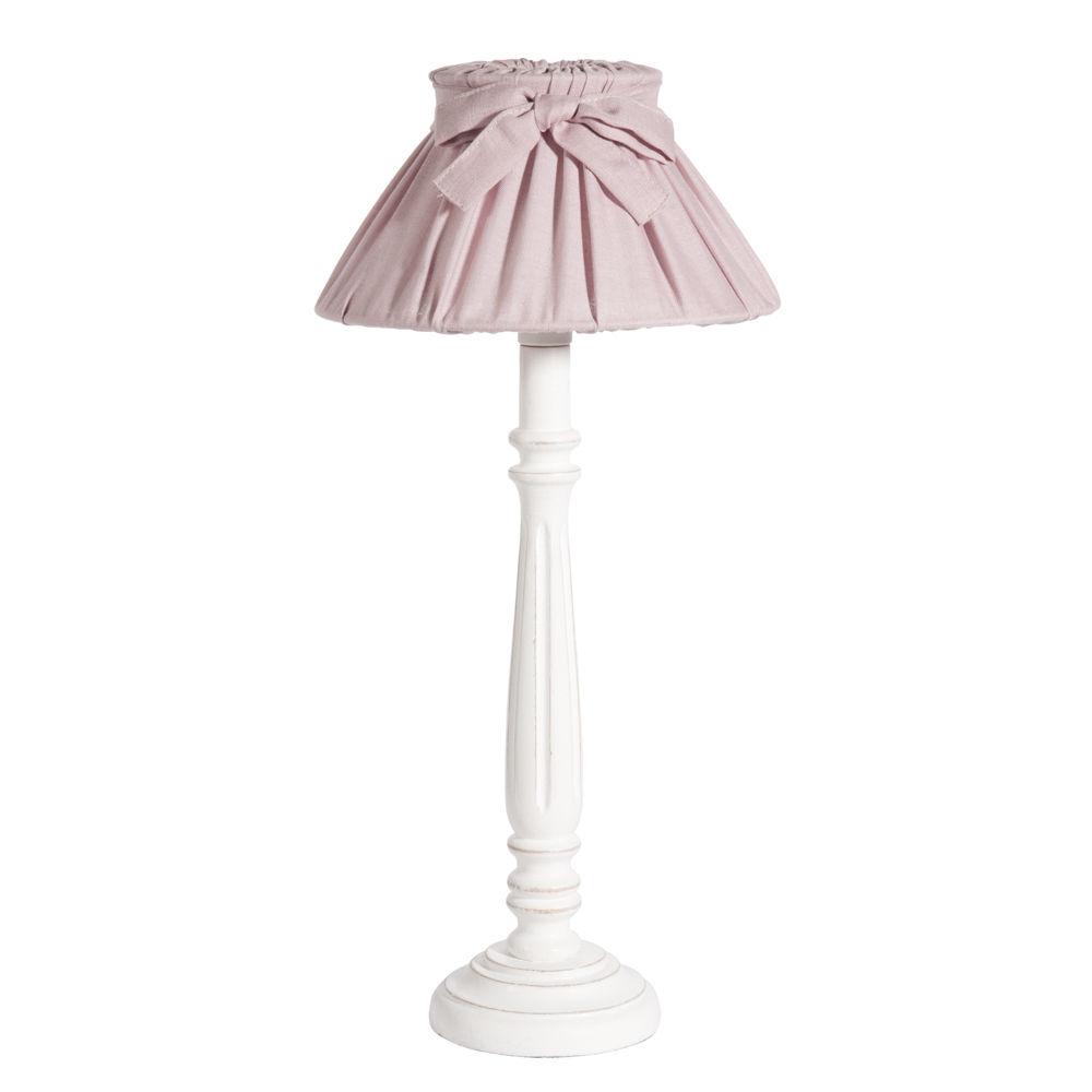 Lampe De Chevet Abat Jour En Toile Rose H 33 Cm Cleves Maisons Du