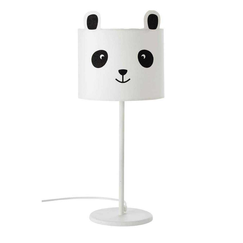 lampe de chevet en mtal blanc h cm panda with lampe de chevet ado fille. Black Bedroom Furniture Sets. Home Design Ideas