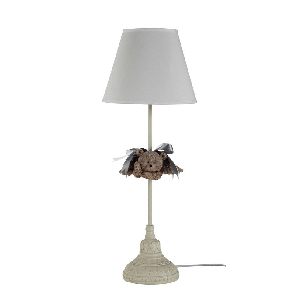 Maison du monde abat jour perfect tissu gris en bois maisons chantier luminaires appartement - Lampe de bureau maison du monde ...