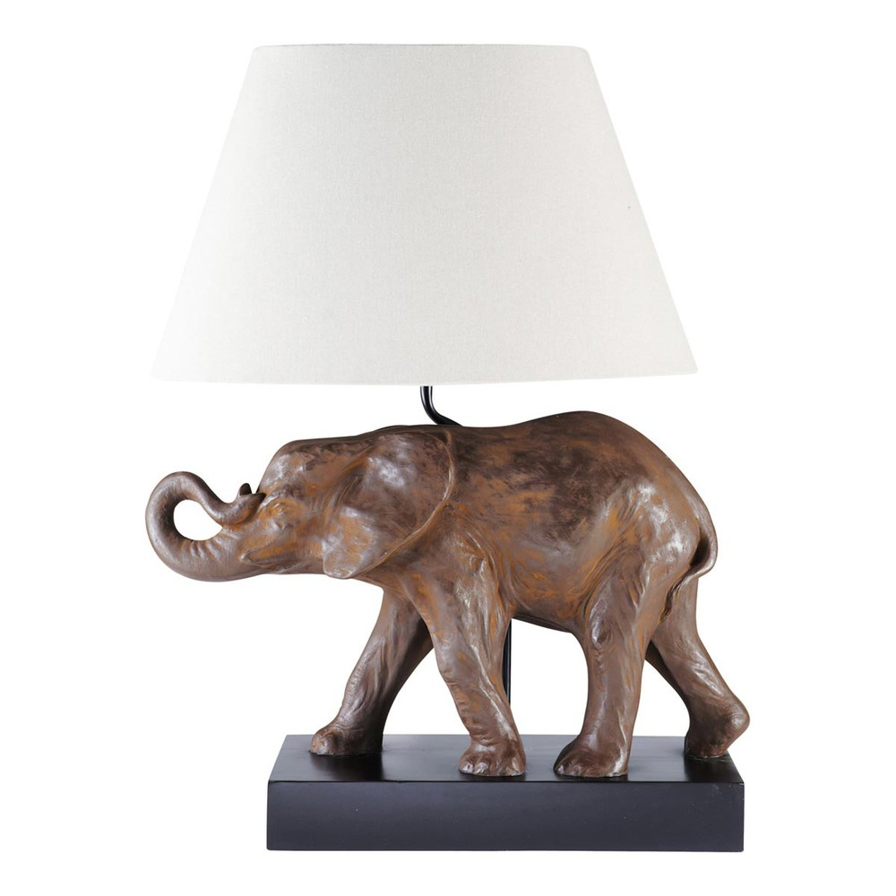 lampe l phant djawas maisons du monde. Black Bedroom Furniture Sets. Home Design Ideas