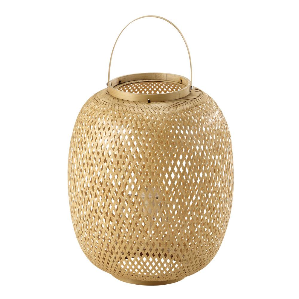 Lampe En Bambou H 62 Cm Panama Maisons Du Monde