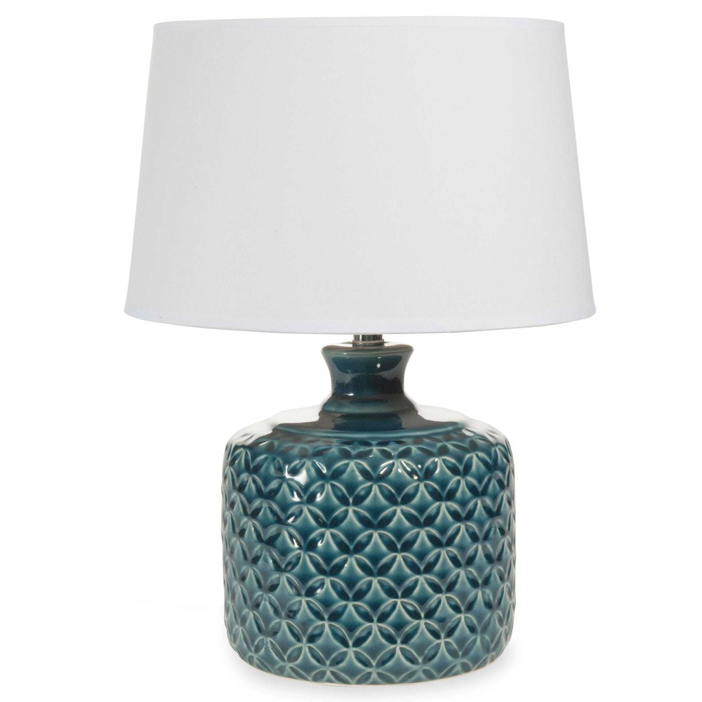 lampe en c ramique bleue h 34 cm porto maisons du monde. Black Bedroom Furniture Sets. Home Design Ideas