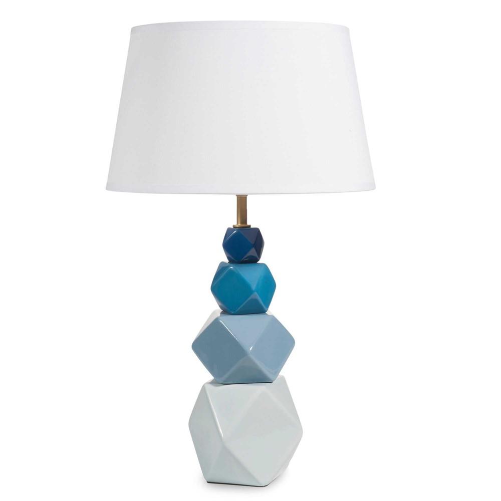 lampe en c ramique bleue h 54 cm yakitori maisons du monde. Black Bedroom Furniture Sets. Home Design Ideas