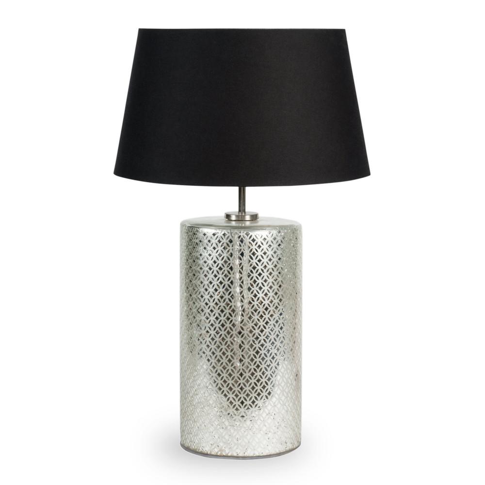 lampe en m tal et abat jour en tissu noir h 64 cm skandia maisons du monde. Black Bedroom Furniture Sets. Home Design Ideas