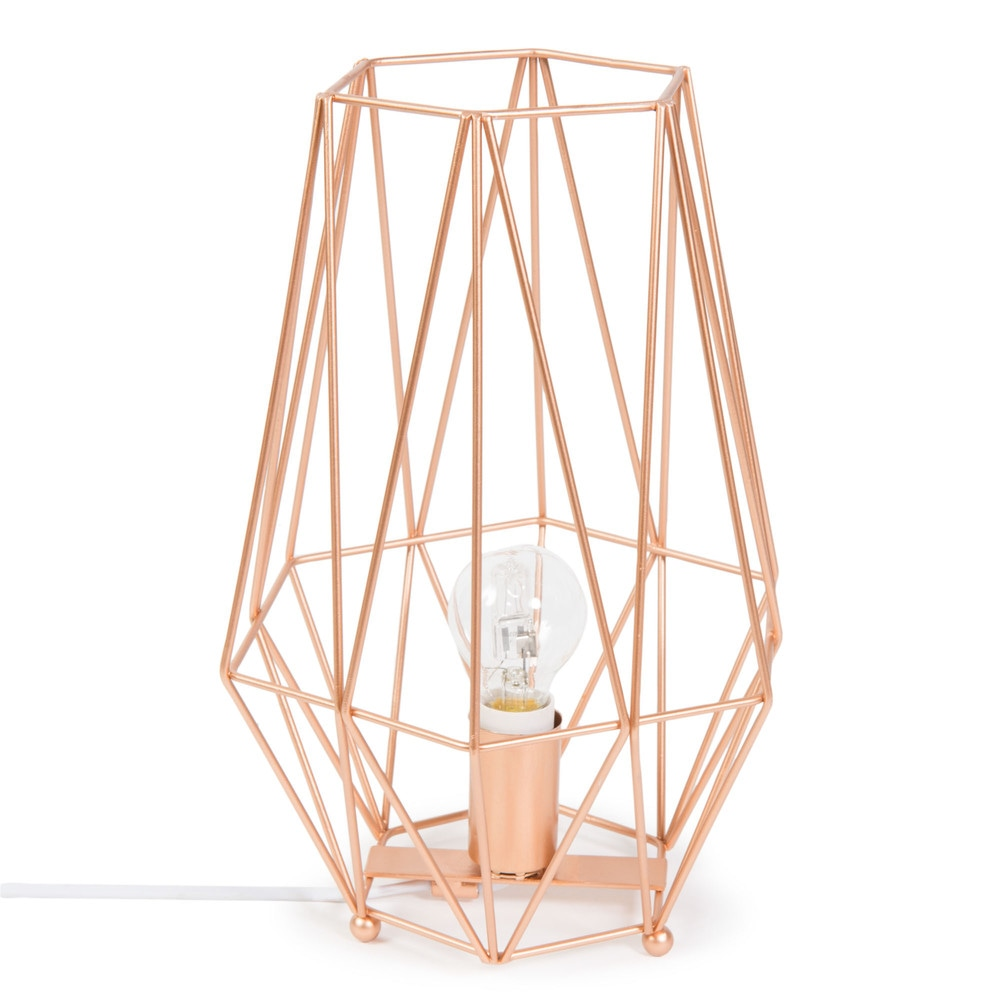 lampe en m tal h 29 cm origami copper maisons du monde. Black Bedroom Furniture Sets. Home Design Ideas
